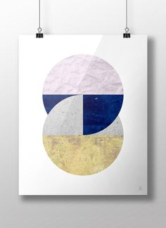 Circles art Geometric print Abstract art Mid by Emblematical