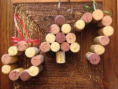 Wine cork holiday ornaments by AshleyColeDesigns on Etsy, $15.00