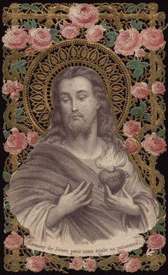 el blog del padre eduardo: Antiguas estampas del Sagrado Corazón