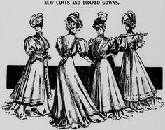New coats and draped gowns featured in the November 16, 1905 Aberdeen Herald.