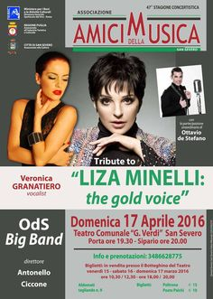 Al Teatro Verdi di San Severo un concerto-tributo dedicato a Liza Minnelli - http://blog.rodigarganico.info/2016/cultura/al-teatro-verdi-san-severo-un-concerto-tributo-dedicato-liza-minnelli/