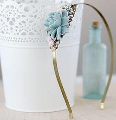 Vintage Style Headband - Floral Hair Jewelry - Bridesmaid Headband - Prom Hadband - Bridal Party Gift- Rustic Wedding Headband - Romantic