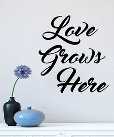 Look what I found on #zulily! Black 'Love Grows Here' Wall Quotes™ Decal #zulilyfinds