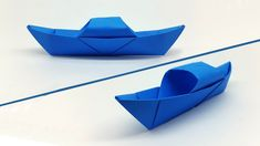 How to make a Paper Boat easy for Kids - Origami Boat making Tutorial - Projects to try - Origami Boot, Kids Origami, Useful Origami, Origami Easy, Origami Paper, Oragami, Origami Animals, Make A Paper Boat, Make A Boat