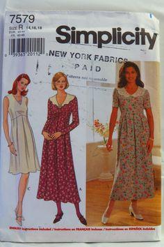 Simplicity 7579 Misses' Dress