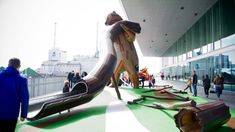 Cinq aires de jeu réalisées par Monstrum au Dokk1 au Danemark