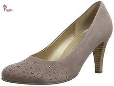 Gabor Roxburgh, Escarpins femme, Grey (Dark Nude Suede), 40 EU - Chaussures gabor (*Partner-Link)
