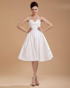 Ruffle Halter Short Bridal Gown Wedding Dress