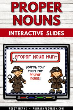 Use these interactive Proper Noun Powerpoint slides with  your 1st, 2nd, 3rd grade classroom and home school classroom. Perfect for your English Language Arts lessons to teach, practice, review, and keep your students engaged with the fun road trip theme. It's a great way to introduce or review proper nouns. Smartboard friendly, research based, kid tested, teacher approved! {first, second, third graders, ELA}. #TeachersPayTeachers #grammar #propernouns #partofspeech Grammar Activities, Kids Learning Activities, Learning Resources, Grammar Skills, Teaching Grammar, 3rd Grade Classroom, School Classroom, Teaching Second Grade, Third Grade