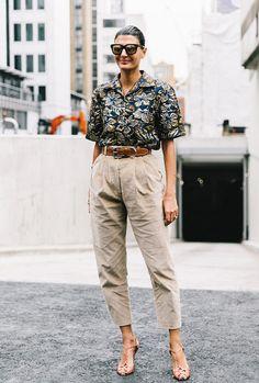 Corduroy pants + Hawaiian shirt