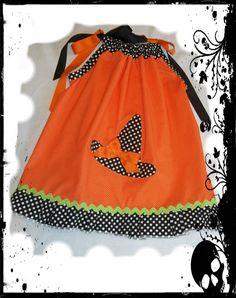Little girl halloween dress pillowcase dress. $18.00, via Etsy.