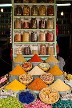 The Beautiful Colors of Marrakech Morocco at Jemaa El Fna.
