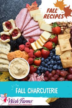 Charcuterie Recipes, Charcuterie Platter, Charcuterie And Cheese Board, Cheese Boards, Thanksgiving Recipes, Fall Recipes, Meat Fruit, Football Snacks, Party Dishes
