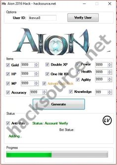 Feel free to download this working Aion 2016 Hack (updated version) for free below or give me a second to guide you. Aion: The Tower of Eternity is an MMORPG release published by NCsoft - main korean MMO publisher. Aion consists of PvP and PvE elements in fantasy world with modern graphics.... https://hacksource.net/aion-2016-hack/