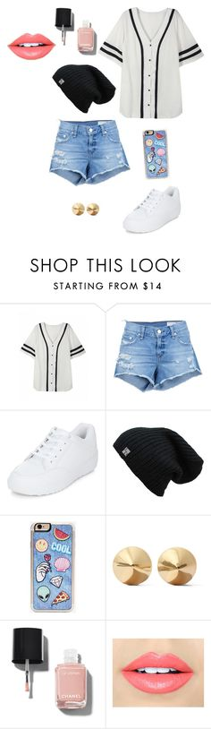 """Completely Randomly Picked"" by laurenbrgr ❤ liked on Polyvore featuring rag & bone/JEAN, New Look, Zero Gravity, Eddie Borgo, Chanel and Fiebiger"