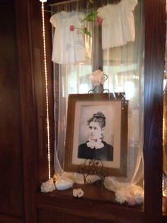 64bf82c151d Mary Amelia Prince ( my great grand mothers Portrait. Two vintage baby  dresses of my mothers
