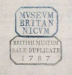 British Museum Library Stamp, mid-1700s