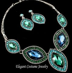 Mississippi-wedding--blue-green-peacock-jewelry-necklace-earrings