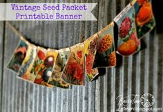 Printable Vintage Seed Packet Banner from…