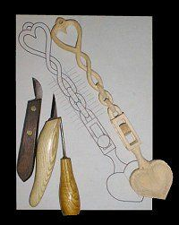 Wood Carving Beginner's Project, The Welsh Love Spoon by L. S. Irish