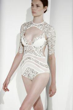 Zimmermann Resort 2014 Bodysuit as seen on Rosie Huntington-Whiteley