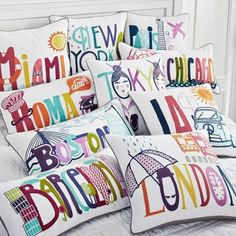 Fun DIY idea, make pillows with a tourist t-shirt for all the places we visit, once we actually start taking vacations lol
