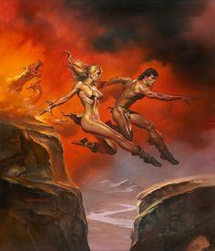 Warrior fantasy boris vallejo art