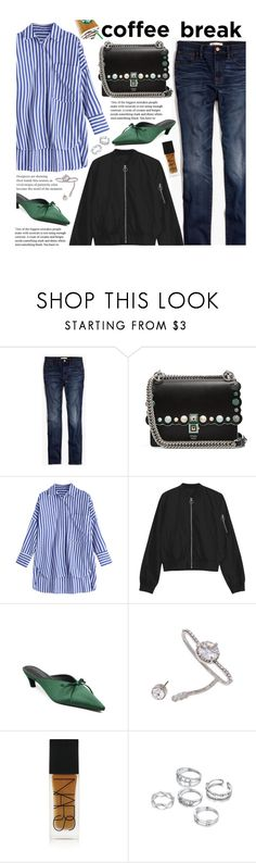"""""""Caffeine Fix: Coffee Break"""" by beebeely-look ❤ liked on Polyvore featuring Madewell, Fendi, NARS Cosmetics, StreetStyle, casual, coffeebreak, stretwear and zaful"""