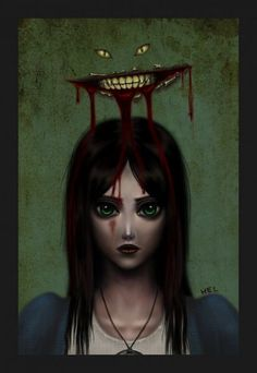 Just made it in time before the launch of Alice: Madness Returns , not that it matters. I love this Alice. Tim Burton, Alice Sweet Alice, Alice Liddell, Chesire Cat, Alice Madness Returns, Were All Mad Here, Through The Looking Glass, Dark Art, Illustrators