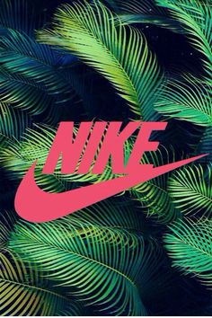 Nike sign - Nike wallpaper - Tropical background - Pink - Exercise - Workout - Just do it.