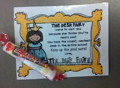 """encouragement for cleanliness! better than the """"clean desk award"""" i have used?"""