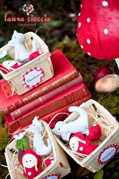 """A beautiful """"Vintage Little Red Riding Hood""""-Party Favors"""