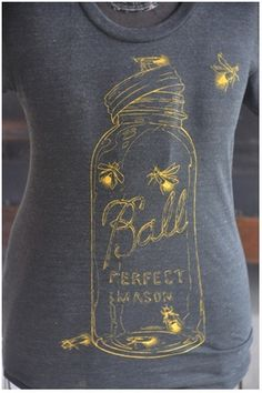 Lightnin' bugs in a mason jar tee- not camo, but so very Southern!