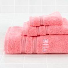 Fresh Start Bath Towels (Pink)    The Land of Nod
