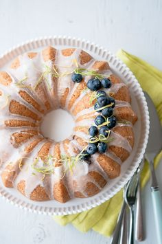 Citrus Blueberry Thyme Cake from @Ken Leung