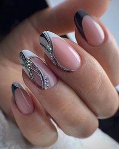 Gold Nail Designs, Elegant Nail Designs, Elegant Nails, Classy Nails, Stylish Nails, Cute Acrylic Nails, Cute Nails, Pretty Nails, Soft Nails