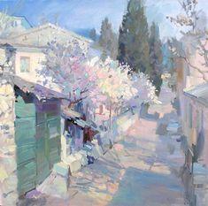 LIBRARY OF FINE ARTS - Anfinogenov Mikhail / Massandrovskaya slobodka.Yalta. / Paintings [Landscape]