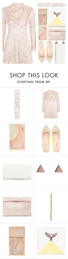 """""""topshop dress"""" by foundlostme ❤ liked on Polyvore featuring National Tree Company, Topshop, Miu Miu, Neiman Marcus, Latelita, Marie Turnor, Dolce&Gabbana, River Island, Flying Dutchman's and partydress"""