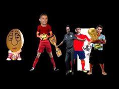 Futbol World Star Show 2014 Cristiano Ronaldo, Pele, Iker Casillas, Lionel Messi y los huevos interpretando las canciones de Todos los Campeonatos Mundiales de Futbol para concluir la idea de que el futbol en 143 años ha cambiado la pena de muerte por el simple penalty y la emocion del espectador es la misma.