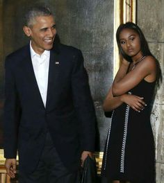 President Obama and first daughter Sasha