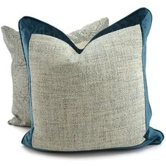 Teal Blue Velvet Gray Woven Pillow Cover, Turquoise Velvet, One of a... (¥4,550) ❤ liked on Polyvore featuring home, home decor, throw pillows, grey home decor, grey accent pillows, turquoise throw pillows, teal toss pillows and gray throw pillows