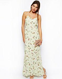 Image 4 ofASOS Maxi Dress in Pansy Print