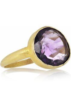 PIPPA SMALL 18-karat gold amethyst ring