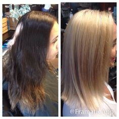 Proper way of going platinum from natural dark levels. Canvas level 2. 2 full foil highlights using matrix v light w/30vlm & olaplex. Glazed w/9t+9v+clear shades eq gloss. Root to end lighter using redken flash lift w/30vlm & olaplex on front two sections & 40 vlm on back two sections. Shamp cap w/redken cleansing cream @ flashlift w/20vlm and olaplex.Treated w/redken extreme cad spray & redken extreme primer. Finished w/redken blonde idol VV w/dbl 40vlm. Done @ junction salon & bar by meg…