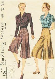 1930's gaucho pants