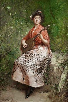 Artist Raimundo de Madrazo y Garreta   Rome, 1841 - 1920,Versailles