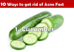 how to get rid of acne fast - cucumber