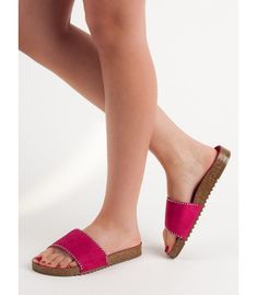 Pink, decorated with shiny crystals, flip flops can be associated with an unusually sophisticated product, but not in this case. Goodin shoes have an exceptionally beautiful, Plastic Heels, Types Of Heels, Womens Slippers, Suede Leather, Spring Summer Fashion, Flip Flops, Espadrilles, Sandals, Pink