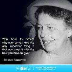 = Eleanor Roosevelt Quotes, Inspire Me, Literacy, United States, Inspirational, People, People Illustration, Folk