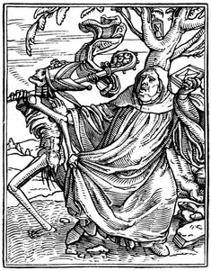 Artist: Holbein d. J., Hans, Title: »The Dance of Death« 14, The Abbot, Date: 1524-26